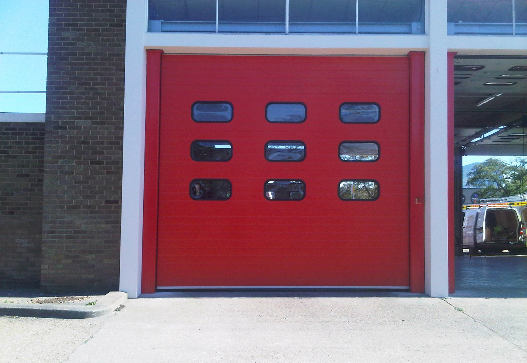 Fire station door installation